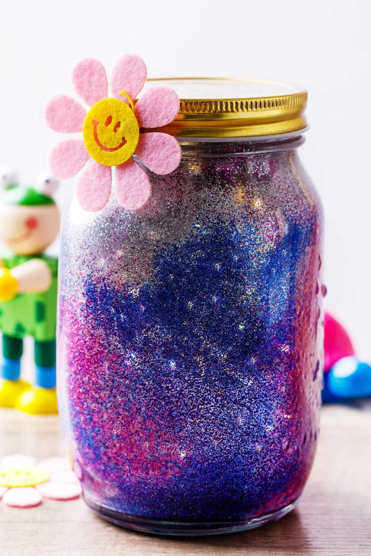 Diy Night Light Glitter Jar For Kids