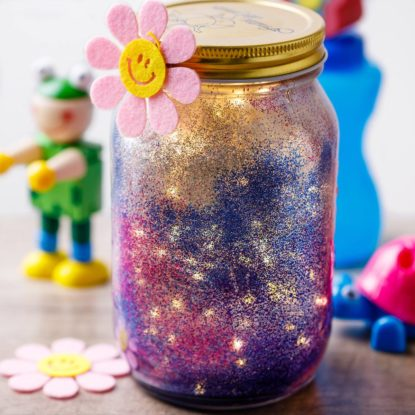 Diy Night Light Glitter Jar For Kids