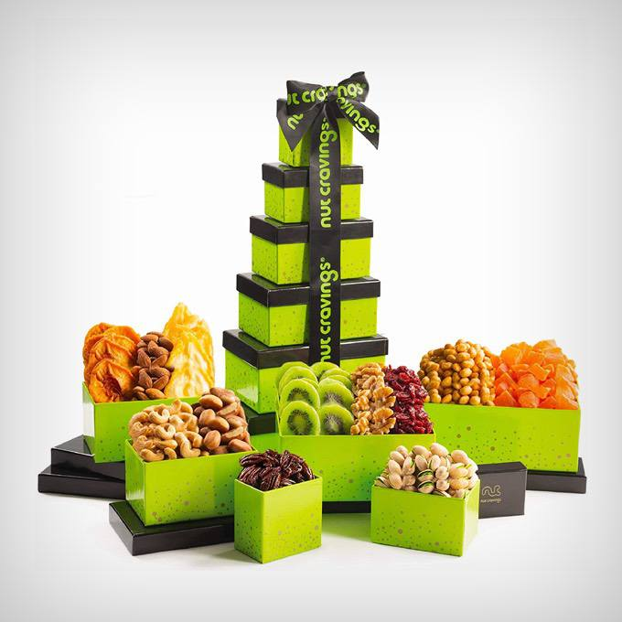 Green Tower Gift Basket