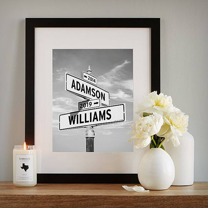 Personalized Intersection of Love Photo Print