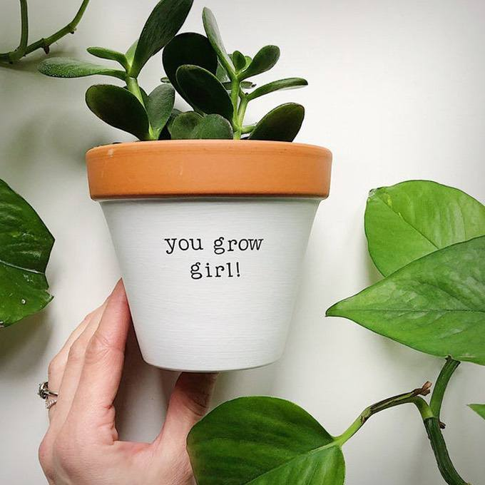 You Grow Girl Planter