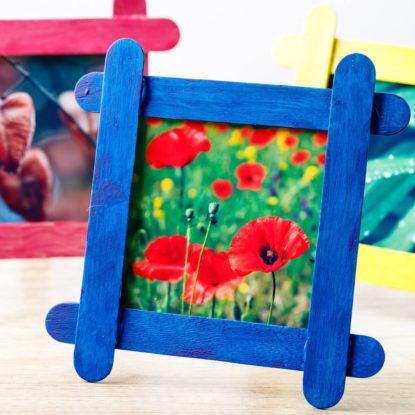 Diy Popsicle Stick Photo Frames