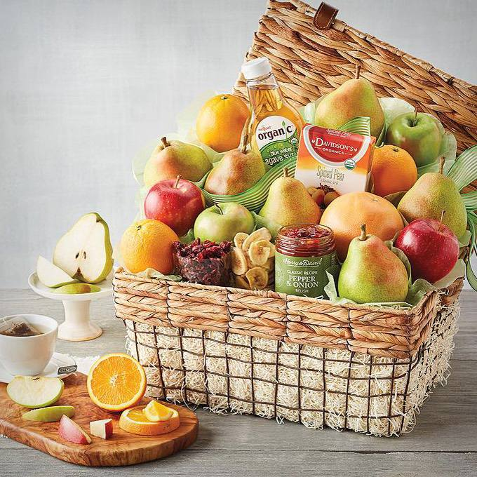 Harry and David Deluxe Organic Fruit Gift Basket