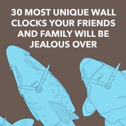 Unique Wall Clocks Square